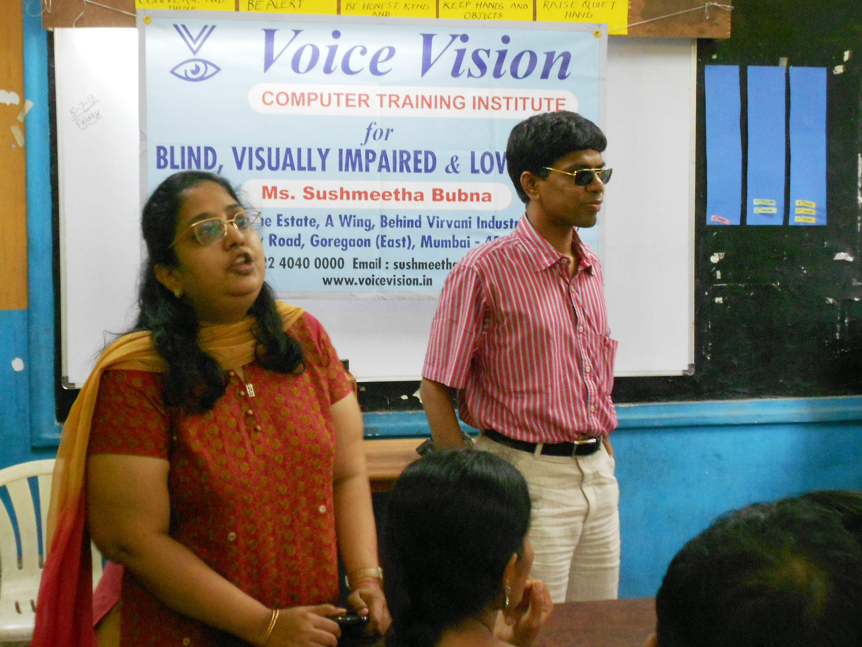 picture of voice vision founder with a participant