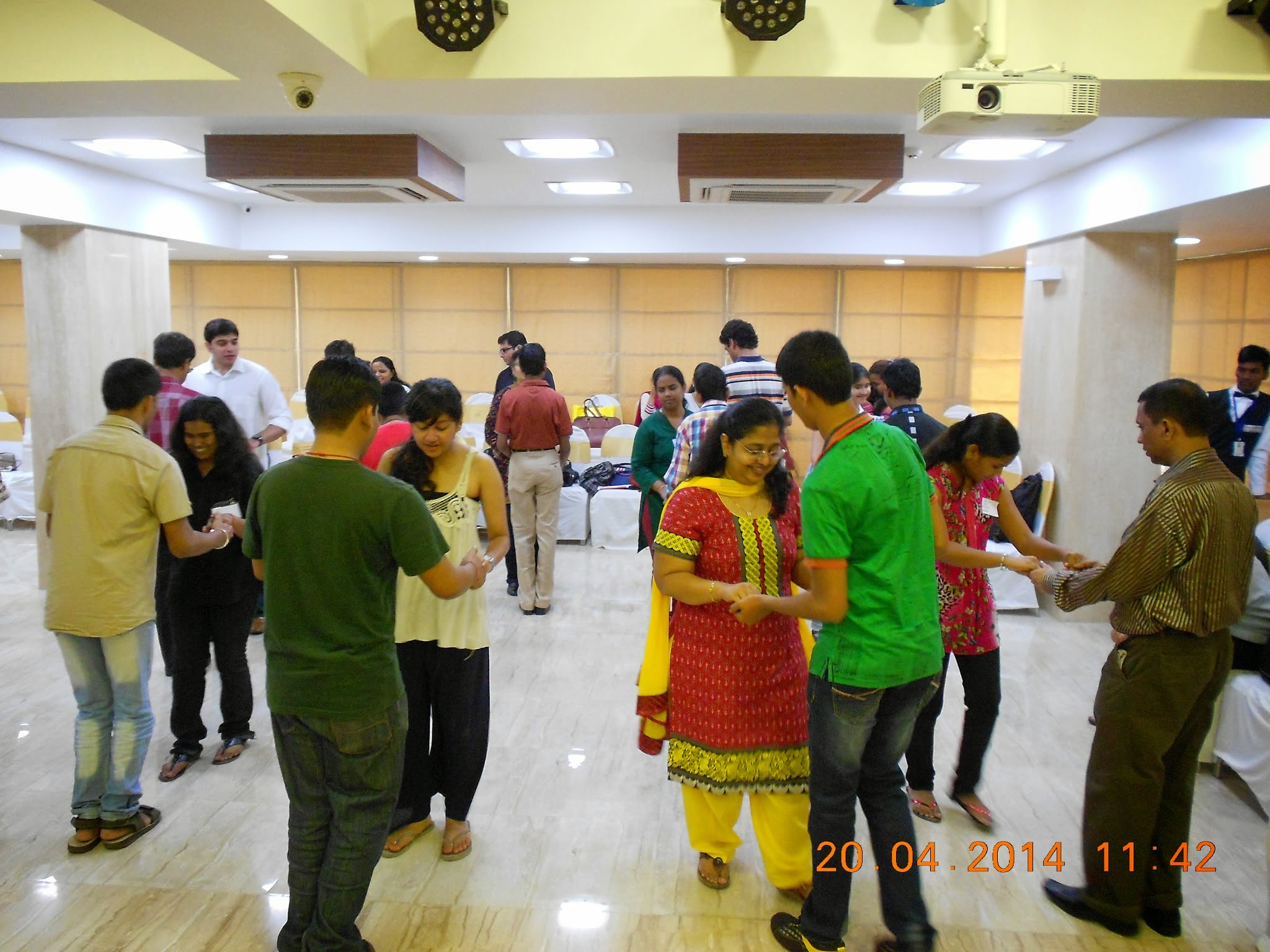 a picture of participants dancing and enjoying the workshop